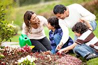 Family gardening home